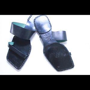 BCBGMaxAzria Shoes - Rare Vintage BCBG Geometric Chic Leather Sandals